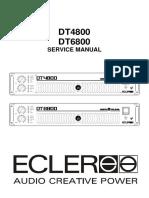 Ecler Dt4800 Dt6800 Amplifier Service Manual