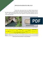 Resume Sistem Air Panas Kalimantan Selatan