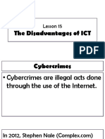 LESSON 15 the Disadvantages of ICT