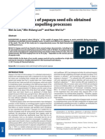 Characteristics of Papaya Seed Oils Obtained by Extrusion–Expelling Processes