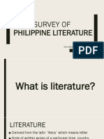 Survey of philippine literature