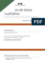 El análisis de datos cualitativo