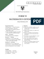 Sydney Grammar 2015 4U HY & Solutions