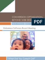 Conversion Rate Optimization -- Patrick McKenzie DCBKK