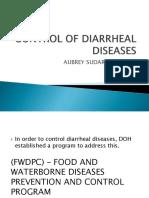 Control of Diarrheal Diseases