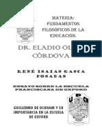Ensayo Sobre La Escuela Franciscana y Su Importancia en El Conocimiento.