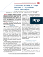 Design Optimization and Modeling of Charge Trap Transistors (CTTs) in 14 nm FinFET Technologies