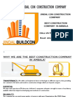 Jindal Con best construction company in ambala