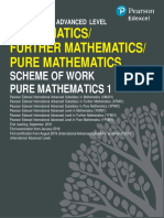 P1 maths edexcel IAL scheme of work