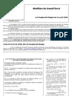 Abolition Du Travail Forcé, Loi Houphouët Boigny de 1946