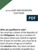 Barangay and Municipal Elections