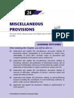Miscelleneous Provisions
