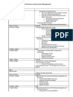 Standard Course outline for a 4 days Materials Science and Corrosion management Program