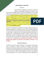 Adolescencia y Discurso - Mario Pujo -