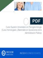 Curso Universitario Psicogerontologia