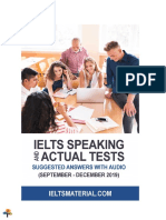 IELTS Speaking Actual Tests Sep 2019