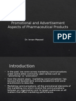 Promotional and Advertisment Aspects of Pharmaceutical Products