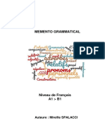 Memento Grammatical A1 > B1