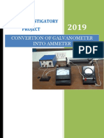 Physics Project on convertion of gslvanometer to ammeter