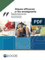 Politiques Efficaces Pour Les Enseignants Perspectives de PISA Presentation