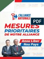 21 Mesures Prioritaires de l'Alliance Nationale