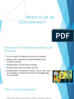 What It Mean to Be an Entrepreneur Report Final