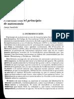 Josep Sanllehi (2000) - A Vueltas Con El Principio de Autonomía