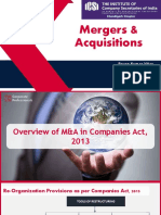 m & a under companies act