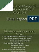 drugs inspector
