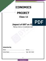 The Impaact of GST on FDI
