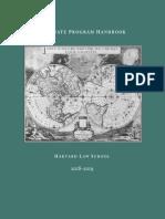 Harvard Law School (HLS) - Graduate Program Handbook 2018-2019