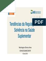 Apresentação - Tendências Da Regulação de Solvência Na Saúde - Washington Alves - ANS