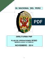 PLAN DE OPERACIONES Nª 063 LUCHA CONTRA LA MINERIA ILEGAL