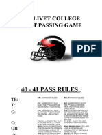 Olivet College Wing T Passing Game