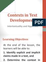 Intertextuality and Hypertextuality