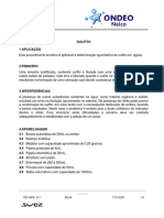 Sulfito - Ondeo Nalco
