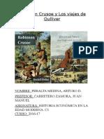 Análisis del Robinson Crusoe y Los viajes de Gulliver.