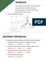 Exercícios Sistemas Trifásicos Respostas
