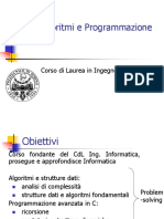 Introduzione corso Algoritmi e Programmazione