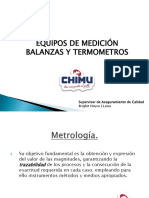 Equipos de Medicion Balanza y Termometro