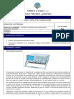 Práctica 01 Lab Electrónica II 19-20