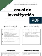 Manual Investigación
