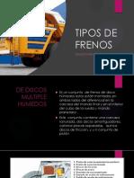 Tipos de Frenos Diapositivas Grupo