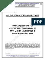 AML-KYC-Sample Questions by Murugan