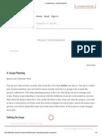 9. Scope Planning – heheh
