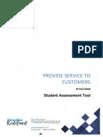 SITXCCS006 Student Assessment Tool