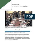 Notas sobre reforma penal