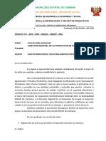 OFICIO N°  - solicito inspección de terreno