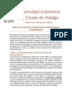 Manual de Atención Integral Para El Adulto Mayor Independiente Actual