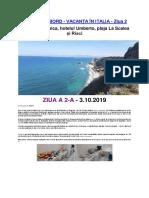 Jurnal de Bord - Italia - Ziua 2